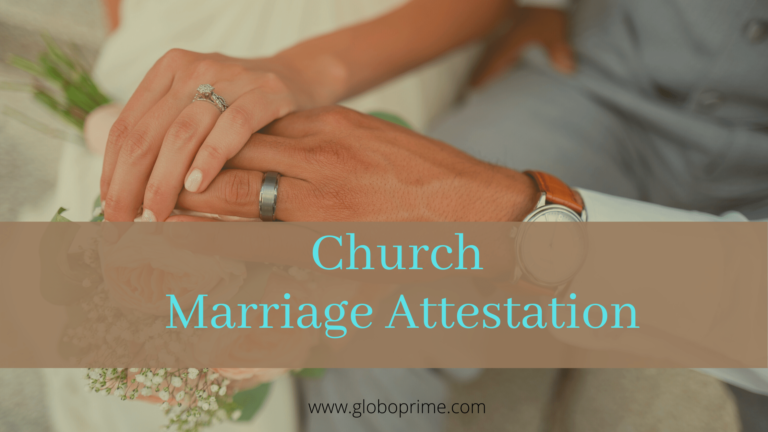 Church Marriage Attestation