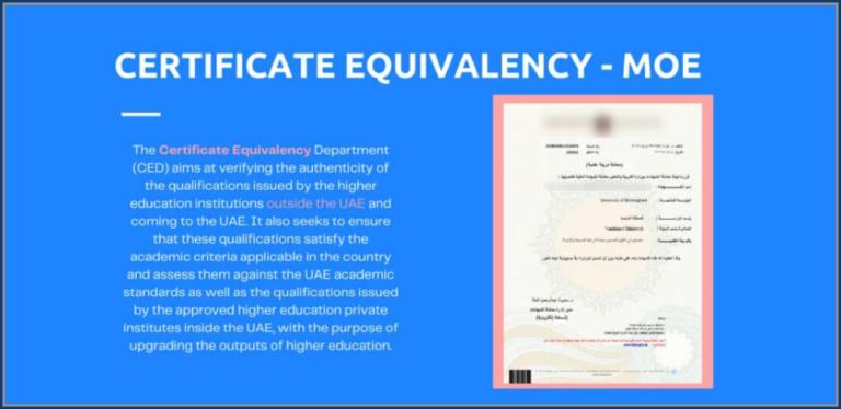Equivalency certificate UAE